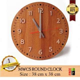 Jam Dinding MWCS ROUND CLOCK – Jam Modern Unik