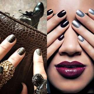 Beyoncé's manicurist recommends darker colours on short nails. Check out my store for dark/bloody red polish