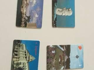 Old Singapore buildings phone cards
