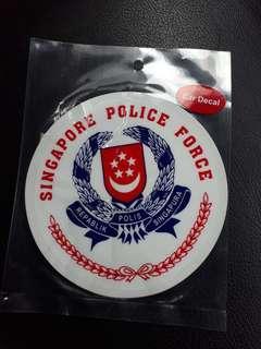 Car police decal