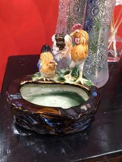 Vintage ceramic chicken Ashtray
