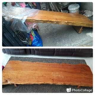 Meja kayu 1 pohon