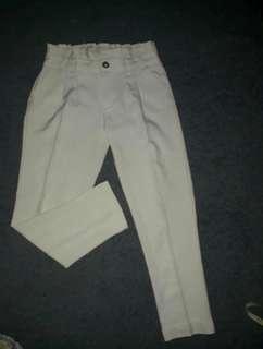 celana pant putih kekinian