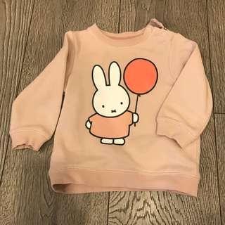 H&M miffy pink sweater
