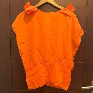 blouse chiffon orange