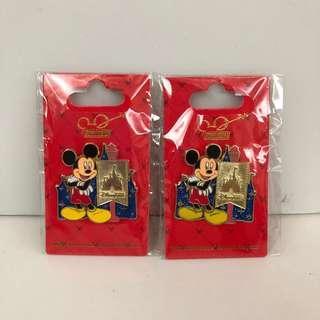 香港迪士尼襟章Pin