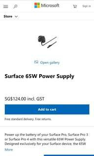 brand new 100% authetic microsoft surface charging adaptor