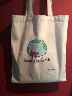 """Global Warmer """"save the earth"""" tote bag"""