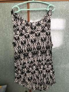 **BRAND NEW** Patterned sleeveless H&M TOP