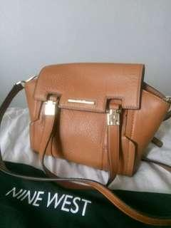 Nine West Brown Leather Crossbody Bag (City Chic)