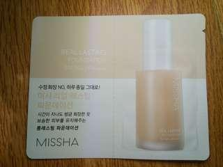 3PCS MISSHA FOUNDATION SAMPLER