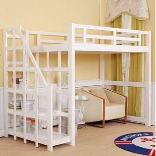 高架床 實木床 組合床 單人床 3尺床 書架 梯櫃 松木床 碌架床 租房 劏房 公屋 居屋 私樓 181008r