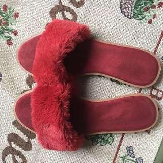 Vincci flat fur shoes