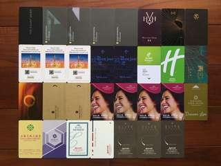 33 hotel room key cards from around the world
