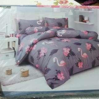 flamingo&flower bed set
