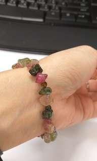 (特價)天然彩色碧茜原柱石并小圓珠