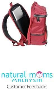 Natural Moms Backpack (Max Maroon)