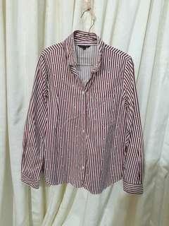 Executive Red White Stripes shirt