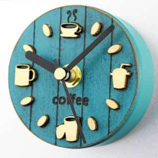 Fridge Clock - Coffee (Green)
