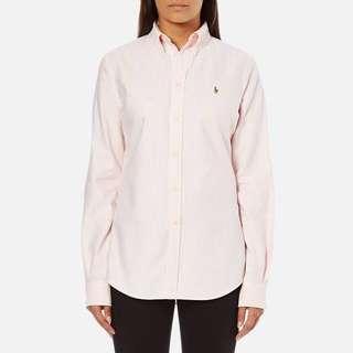 Polo Ralph Lauren Button Up Pink White Stripe