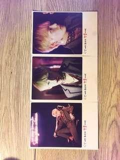 BTS V Poloroid Style Double Sided Photocard Set of 3