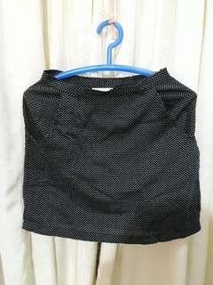 Mini skirt black dots