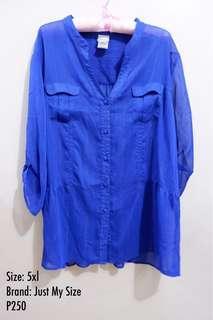 Plus Size Blue Polo 4xl - 5xl