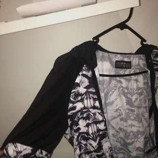 Black and white spray jacket