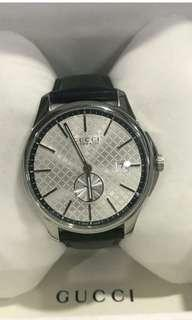 Bnew Gucci Automatic Watch in Genuine Leather Strap in 40mm