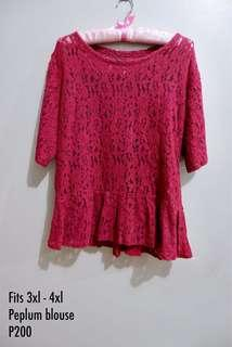 Plus size peplum blouse 3xl - 4xl