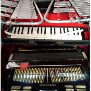 Musical Instruments Package with Xylophones, Accordion and Melodion