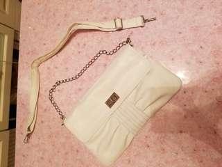 white PU bag