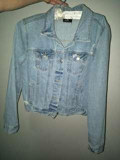 Boxy distressed demin jacket