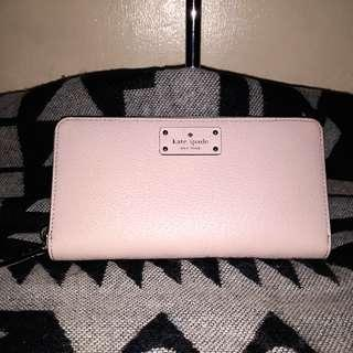 Authentic Kate Spade Neda leather wallet in almondine