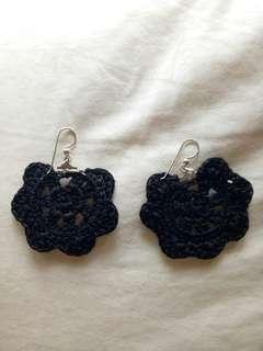 🚚 Earrings handmade black