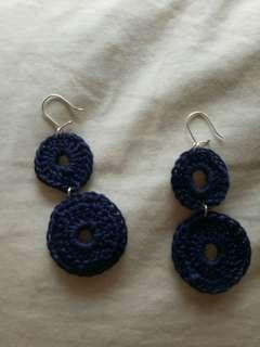 🚚 Earrings handmade blue