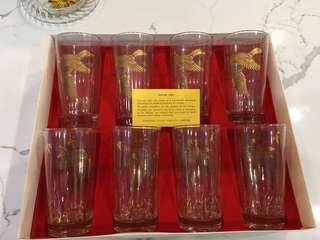 1960s vintage glasses 22k gold New in box