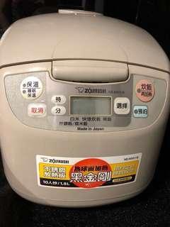 日本製象印黑金鋼10人份電鍋zojiRushi