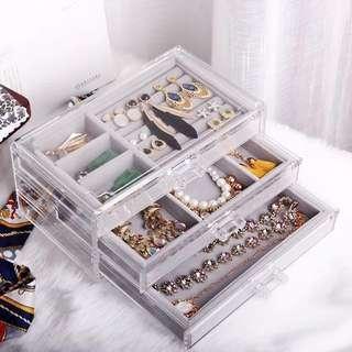 🚚 (Instock) Muji Inspired Acrylic Jewellery Storage