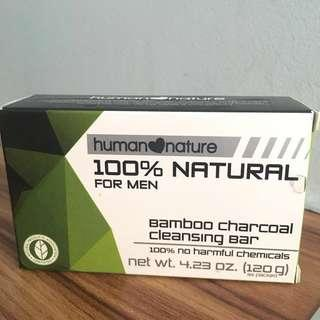 human❤️nature 100% Natural Bamboo Charcoal Cleansing Bar for Men
