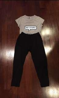 celana hitam 7/8 stretch