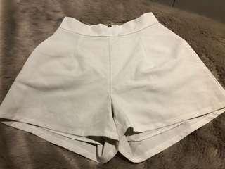 White fox shorts