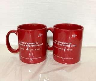 BN Virgin Active Red Mug x2