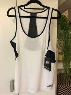 Skechers white and black gym top size M