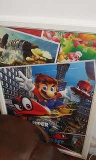 Super Mario 瑪利奧 巨型海報連相框