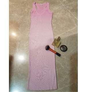 GUESS pink stretch long sleeveless dress