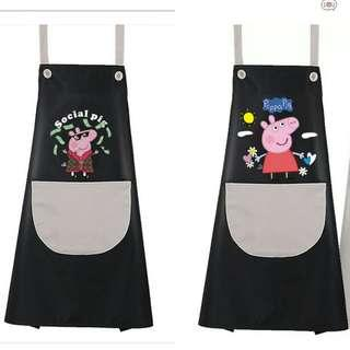 🚚 BN Cute Piggy Cooking Apron (grey pocket)