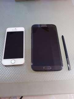 Spoilt iPhone 5s and Samsung Note 2