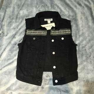 H&M Coachella Embroided Denim Vest