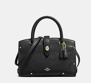 Coach Bag COACH F37779 MERCER SATCHEL 24 BLACK/LIGHT GOLD